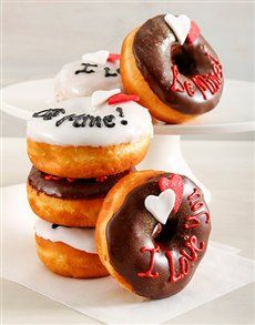 Valentine's Day is a time to remind your special someone how much you love them. What better way to do that than by treating him to a box of doughnuts? He'll love this adorable and delicious Valentine's Day gift! Valentines Day For Him, Valentine Day Gifts, Cupcakes Online, Order Cake, Love Cupcakes, Love Ring, Macaroons, Doughnuts, Baked Goods