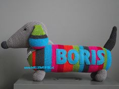 Sausage Dog Knitting Pattern : crochet on Pinterest Pineapple Squares, Granny Squares and Crochet Patterns