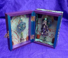 Ganesh Hindu Shrine Altar Box Painted Wood by ElementalEnchantress