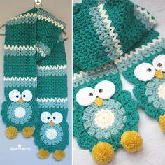Crochet Owl Super Scarf - Free Pattern