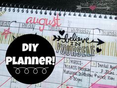 DIY Planner Post via Coffee & Pretty Paper--> A how-to on making your own planner from a graph paper notebook.