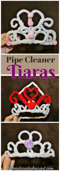 Pipe Cleaner Tiaras - For princess pretend play & dress up