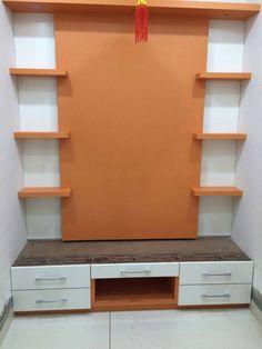 Dressing table Pooja Room Design, Lcd Panel Design, Room Design, Temple Design For Home, Apartment Furniture Layout, Room Door Design, Stylish Bedroom Design, Cupboard Design, Living Room Designs