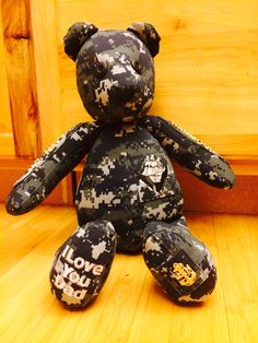Navy Bear Custom Order! US Navy and Name tapes on arms of bear!