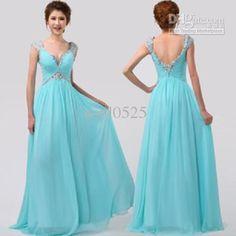 Wholesale Evening Dress -  Deep V-nevk Sexy Floor Length Evening Dress Cocktail Dress Prom Dress, $98.18 | DHgate