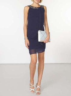 **Billie & Blossom Navy Trpeeze Dress - View All Sale - Sale & Offers - Dorothy Perkins