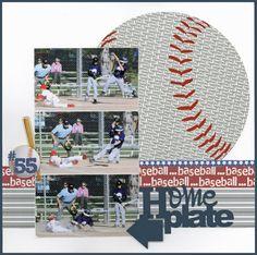 Baseball layout by Carolyn Lontin