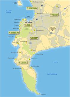 15 Best Cape Town Tourist Map Images Tourist Map Cape Town South