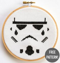 FREE PATTERN!!! It looks so awesome when you create popular culture items in cross stitch as the technique creates a pixelised appearance referencing 8-bit graphics from gaming culture.