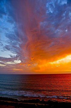 Beautiful sunset in San Diego
