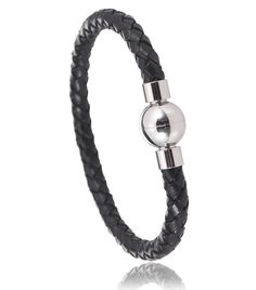 Bracelet cuir noir Aprilia