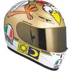 The Valentino Rossi Chicken Helmet is available in the GP-Tech range and now the cheaper AGV K3 range