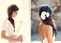 Peinado semi-recogida para novia