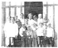 Pop's school and other school photos.  An essy on Huachuca City single gender classes.