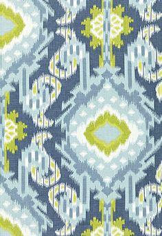 Kiribati Ikat Print Aquamarine 174982 by Schumacher Fabric Linen Martindale Horizontal: 18 and Vertical: 54 - Fabric Carolina - Textiles, Textile Patterns, Color Patterns, Pattern Designs, Colour Schemes, Color Combinations, Hirsch Design, Ikat Pattern, Paintings