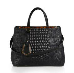 Fendi 2Jours Croc Embossed Bag - Spring 2014