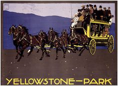 Yellowstone National Park by Ludwig Hohlwein Fine Art Print