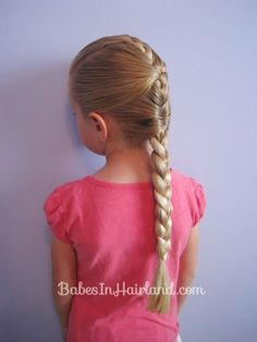 """Well try our our French braid """"cheat"""" tutorial! Gives a similar look without feeling like you need 4 hands! Perfect for summer & keeping hair up and out of the way. Long Braided Hairstyles, Pony Hairstyles, Little Girl Hairstyles, Pretty Hairstyles, Hairstyle Ideas, Teenage Hairstyles, Princess Hairstyles, Hair Ideas, Wedding Hairstyles"""