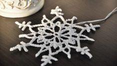 Mały szydełkowy płatek śniegu - krok po kroku - A nuż szydełko