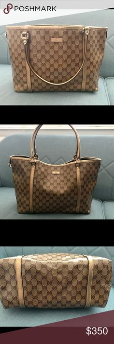 e256b020268 Shop Women s Gucci size OS Totes at a discounted price at Poshmark. Gold LeatherGucci  BagsLouis ...
