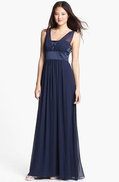 Dessy Collection Satin & Chiffon Dress $ 131.98