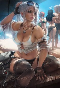Tagged with art, gaming, anime, fantasy, girls; Art Collection by Sakimichan Overwatch, Body Kun, Ciri Witcher, Sakimichan Art, Pin Up, Yennefer Of Vengerberg, Thing 1, Lol League Of Legends, Sexy Cartoons