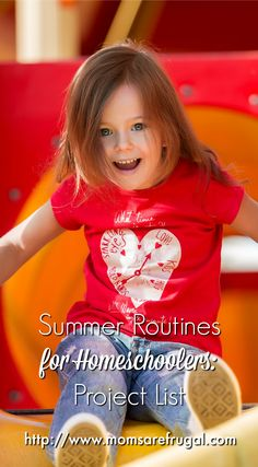 Summer routines help busy moms start to work on their project list. Most homeschool moms do not have time to complete projects.