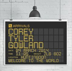 personalised arrivals board print by kiaco | notonthehighstreet.com