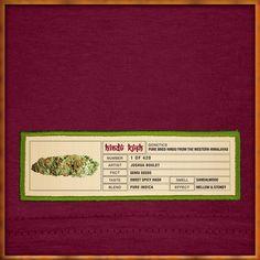 Hindu Kush Original Bud Label