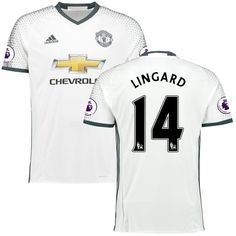 Jesse Lingard Manchester United adidas 2016/17 Third Replica Jersey - White