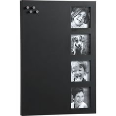 Magnetic-Chalkboard with Picture Frames - perfect for the kitchen message center