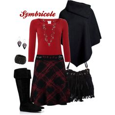 """""""Rouge et noir"""" by symbricole on Polyvore"""