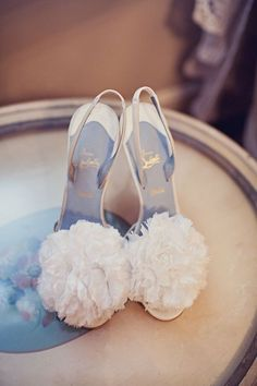 Christian Louboutin wedding shoes - something blue. Christian Louboutin, Louboutin Shoes, Christian Shoes, Bridal Shoes, Wedding Shoes, Bridal Footwear, Wedding Dresses, Looks Style, Wedding Bouquets