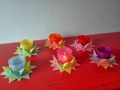 das Wolkenschaf: Papierbasteleien: Sternenlichter.. so schön!