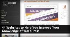 44 Websites to Help You Improve Your Knowledge of WordPress #wordpress #subscribe #roundup