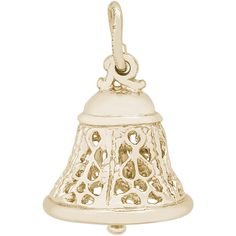 Ring in the holidays with the Rembrandt Charms Filigree Bell Charm - Style # 0830