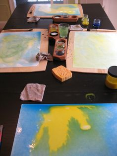 Love the painting boards (and a great painting story) at: http://lavendersbluehomeschool.squarespace.com