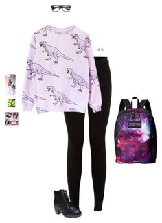 """Above All Things Random"" by hanakdudley ❤ liked on Polyvore featuring мода, Wet Seal, JanSport и Georgini"
