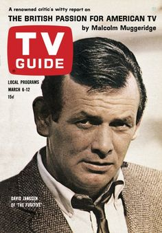 "TV Guide: March 6, 1965 - David Janssen of ""The Fugitive""//mar16"