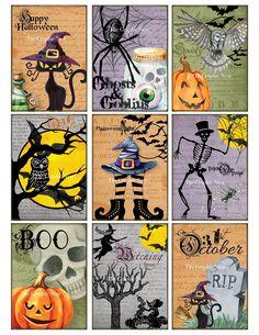 Halloween Vintage, Halloween Tags, Halloween Quilts, Halloween Drawings, Halloween Stickers, Fall Halloween, Halloween Crafts, Halloween Decorations, Halloween Pictures