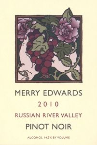 A fabulous pick with a beautiful label--2010 Russian River Valley Pinot Noir