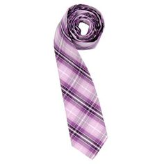 Plaid Tie by Andrew Christian in Purple