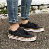 Women Slip On Hollow Out Flats Ladies Breathable Loafers Casual Platform Vulcanized Sewing Sneakers Shoes Clothing Sites, Ladies Slips, Shoes Sneakers, Vans, Loafers, Platform, Slip On, Casual, Blue