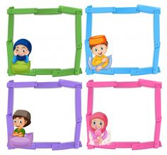 Buy Muslim Children On Wooden Frame by interactimages on GraphicRiver. Muslim children on wooden frame illustration This image was created using Adobe Indesign Included in this packag. Blue Flower Wallpaper, Cute Girl Wallpaper, Kids Background, Background Banner, Vector Background, School Border, Classroom Birthday, Cartoon Girl Images, Islamic Cartoon