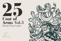 Check out 25 Coat Of Arms - Vol.3 by MARTINI Type Designer on Creative Market