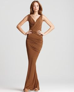 Donna Karan New York Dress - Floor Length Twist Draped