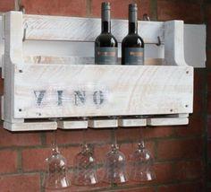 Weinregal-VINO-Wein-Glas-Glaeserhalter-Flaschenregal-60-cm-breit-Holz-Antik-Wite
