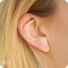 Bar Studs Moody Blue Oorbellen Sterling Zilver ♡ available at www.ibizamusthaves.nl