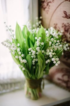 Image by Story Wedding Photography. A simple and classic lily of the valley…