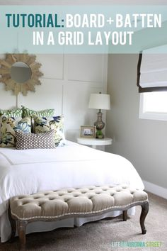 I have had a few requests for a tutorial on the board and batten we completed in our queen guest bedroom. It's been several months since we completed this project so the details are a little rusty, but hopefully this will provide you with some solid advice if you decide to try this project at …